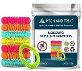 Mückenschutz Armband (10 Stück) | Anti Mücken Mosquito Repellent mit Citronella und Geraniol | Natürliche zuverlässige Mückenabwehr für Reise, Camping u.v.m | Für Kinder geeignet | Indoor und Outdoor