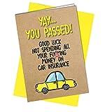 #658 Autoversicherung, unhöfliche Grußkarte, lustige Karte Comedy