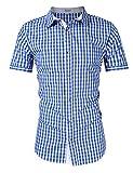 KOJOOIN Trachten Herren Hemd, Lederhose, Weste und Strumpf - für Oktoberfest, Business und Freizeit