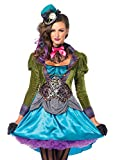 Leg Avenue 85505 - Deluxe Mad Hatter Kostüm, Größe M (EUR 38), Damen Karneval Kostüm Fasching