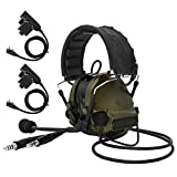 TAC-Sky COMTA III Doppelstecker Taktisches Headset, Gehörschutz, Schallverstärkung für Airsoft Sport (Armeegrün)