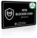RFID Blocker Karte DEKRA Geprüft - NFC Schutzkarte - Schutz vor Datendiebstahl - dünne Karte mit 0,8mm geeignet für Jede Geldbörse