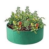 Große Hochbeet-Garten Garten wachsen Taschen Runde Pflanzbeutel Pflanzen Behälter für Gemüsesalat Tomate