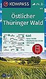 KOMPASS Wanderkarte Östlicher Thüringer Wald: 4in1 Wanderkarte 1:50000 mit Aktiv Guide und Detailkarten inklusive Karte zur offline Verwendung in der ... Langlaufen. (KOMPASS-Wanderkarten, Band 813)