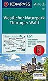 KOMPASS Wanderkarte Westlicher Naturpark Thüringer Wald: 4in1 Wanderkarte 1:50000 mit Aktiv Guide und Detailkarten inklusive Karte zur offline ... Langlaufen. (KOMPASS-Wanderkarten, Band 812)