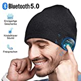 Bluetooth Mütze Herren Damen Geschenke, Bluetooth 5.0 Kopfhörer Männer Mütze, Mikrofon für Freisprechanruf, Musik, Laufen, Skifahren, Elektronische Geschenke für Männer, Weihnachts Geschenke Männer
