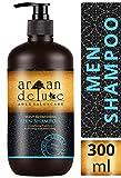Argan Deluxe Herren Shampoo in Friseur-Qualität 300 ml - Starkes Pflegeshampoo mit Minze für Männer