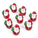 10 kleine MINI Weihnachtsmann rot weiß NIKOLAUS SANTA CLAUS 3,5 cm Miniatur Figur give-away Kunden-Geschenk Werbeartikel Weihnachten Weihnacht-Deko Geschenk