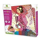Sycomore CRE7002 Selbstklebende Mosaike für Kinder-5 Prinzessinnenbilder-Kreative Freizeitgestaltung-Stick & Fun-Ab 5 Jahren-Sycomore-CRE7002, Mehrfarben