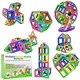 Desire Deluxe Magnetische Bausteine 94PC Konstruktion Bauen Blöcke Set Montessori Spielzeug Teilen für Kinder ab 2 3 4 5 6 7 8 Alter Jahren, Lernspielzeug für Mädchen Jungen Pädagogisches Geschenk